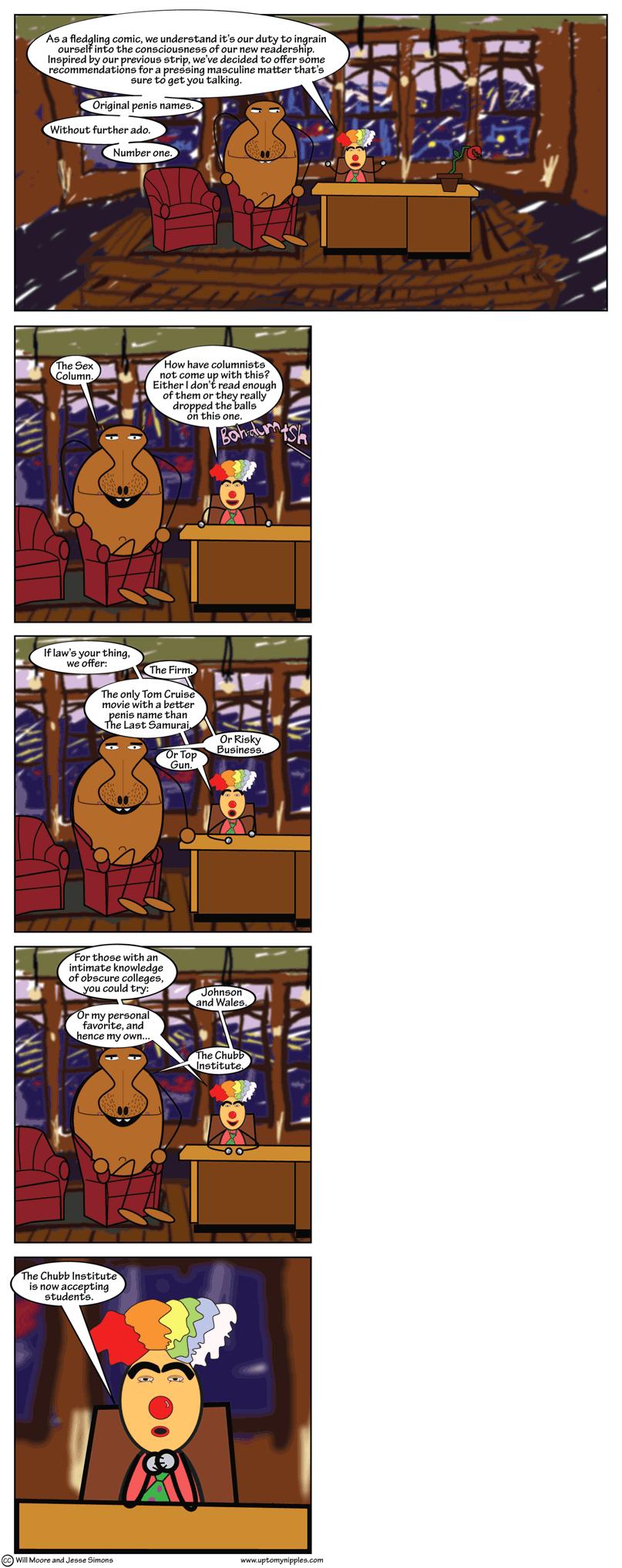 Dicknames comic