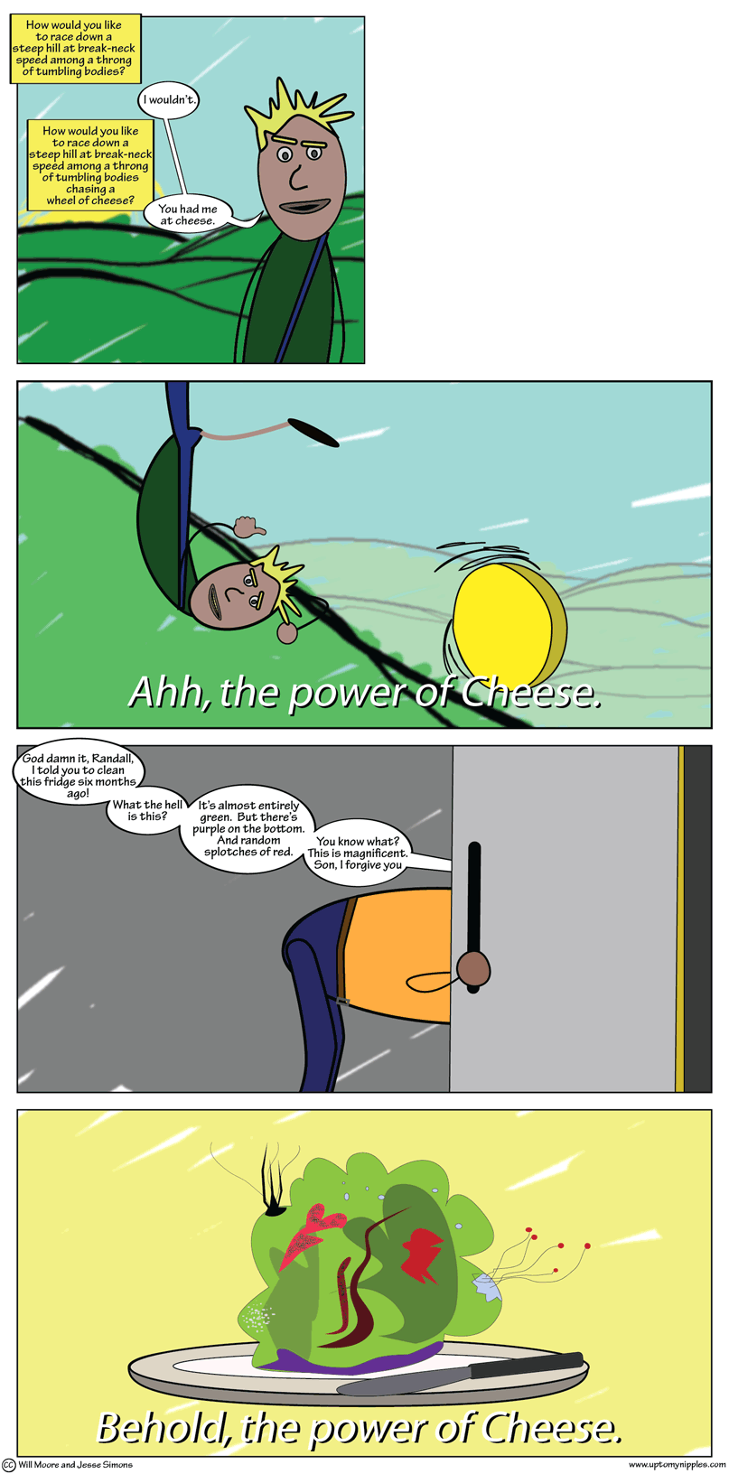 The Power of Cheese 1 and 2 comic