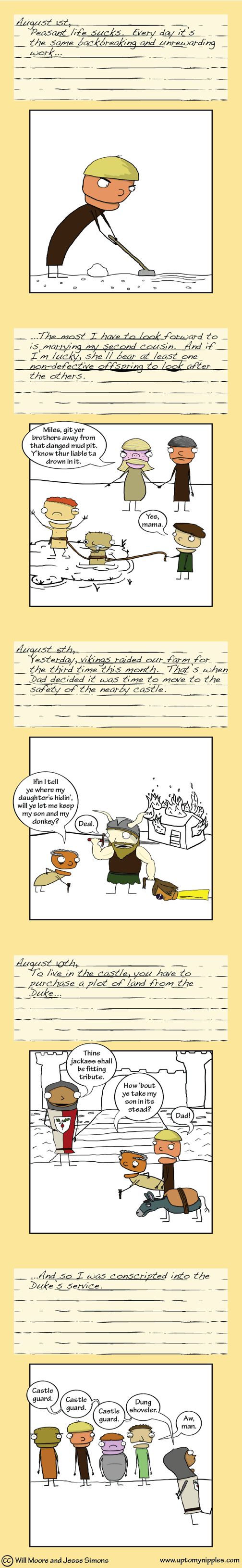 Diary of a Castle Guard (1/3) comic