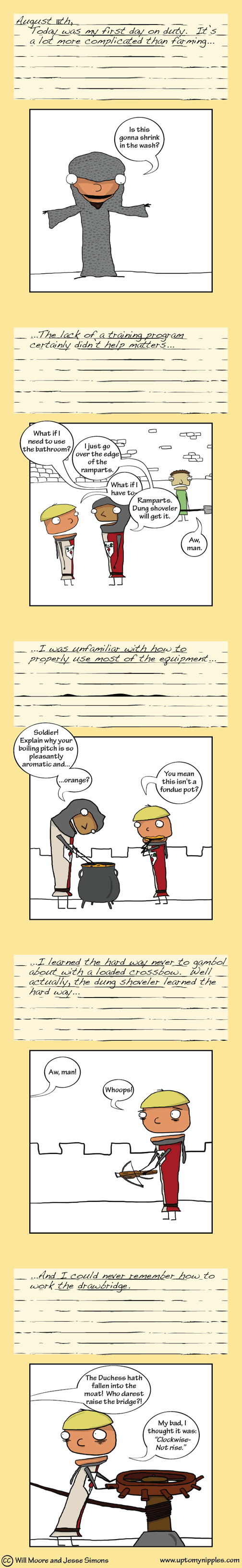 Diary of a Castle Guard (2/3) comic