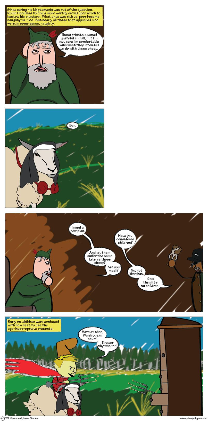 A Very Nipples Christmas Part 2 comic