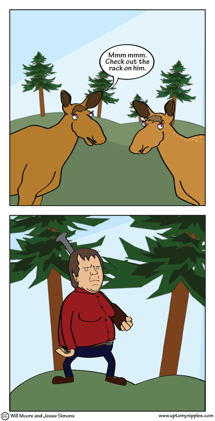 One Moose, Two Moose comic