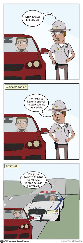 A Tense Police Matter comic