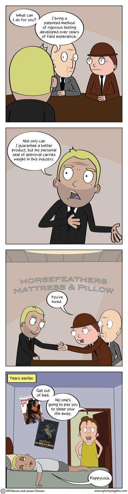 R & R & D comic